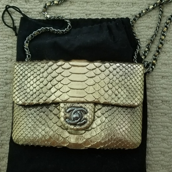 748a580d863c CHANEL Bags | Rare Collectible Python Wallet On Chain | Poshmark